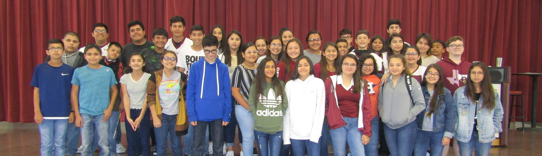 Mathis Middle School 8th Grade A and B Honor Roll Students